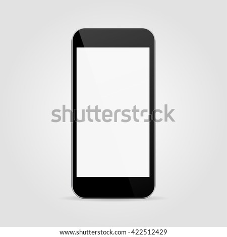 Phone realistic vector, iphone icon eps10, phone icon illustration, phone icon picture, phone icon flat, phone icon, phone web icon, phone isolated, phone icon drawing, phone icon, phone icon jpg - stock vector