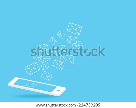 phone Send mail - stock vector