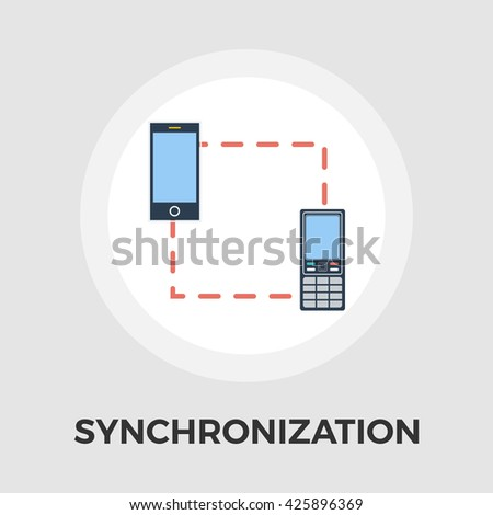 Phone sync icon vector. Flat icon isolated on the white background. Editable EPS file. Vector illustration. - stock vector