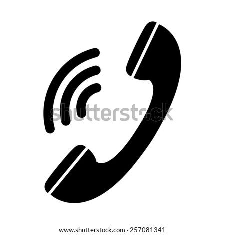 Phone vector icon - black illustration - stock vector