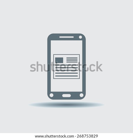 Phone, vector illustration. Flat design style - stock vector