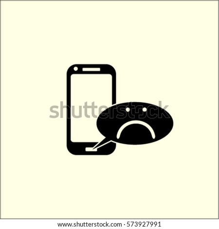 Phone negative message vector icon stock vector hd royalty free phone with negative message vector icon thecheapjerseys Images
