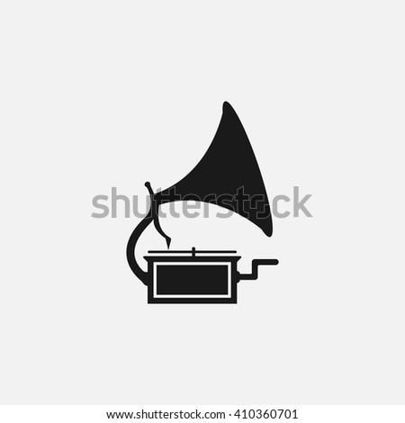 phonograph icon vector, solid illustration, pictogram isolated on white
