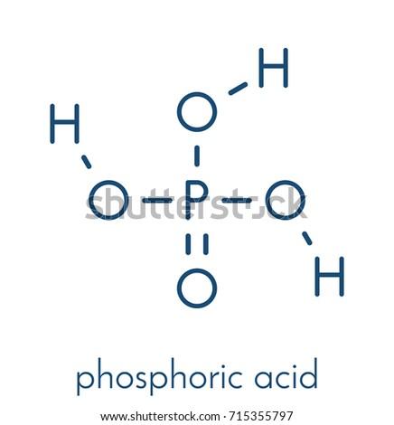 Phosphoric Acid Mineral Acid Molecule Used Stock Vector 715355797