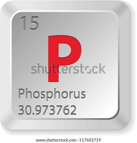 phosphorus button - stock vector