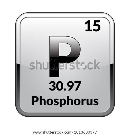 Phosphorus symbolchemical element periodic table on stock vector phosphorus symbolemical element of the periodic table on a glossy white background in a urtaz Image collections