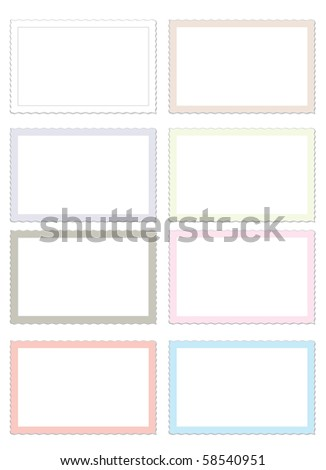 photo and postcard frames pastel colors