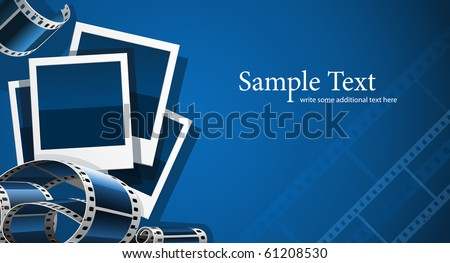 photo and video film picture background vector illustration - stock vector