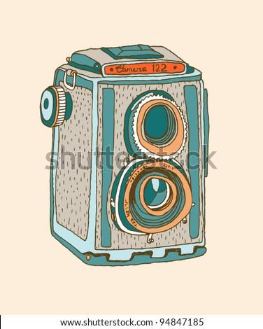 photo camera 1 - stock vector