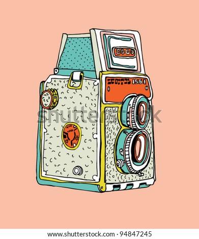 photo camera 3 - stock vector
