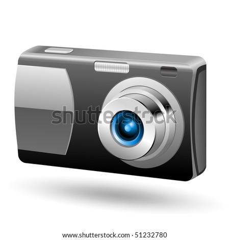Photo camera 1. Easy to edit vector icon. - stock vector