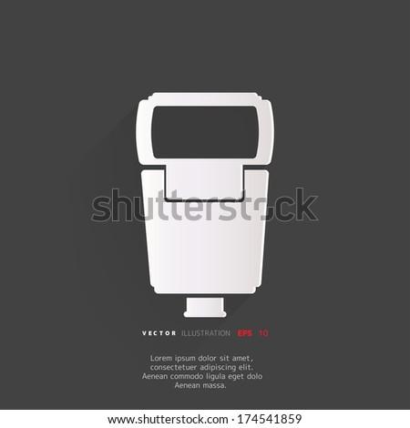 Photo camera flashlight - stock vector