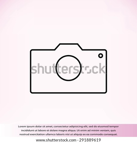 photo camera icon - stock vector