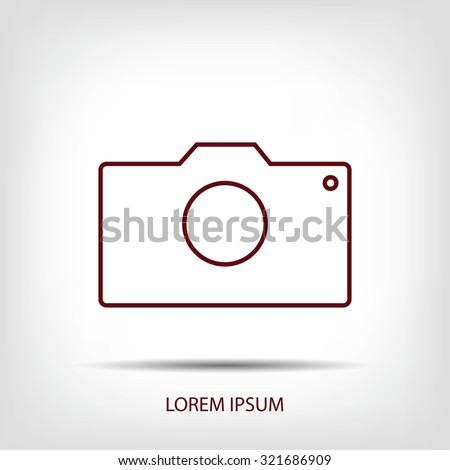 photo camera icon - stock vector