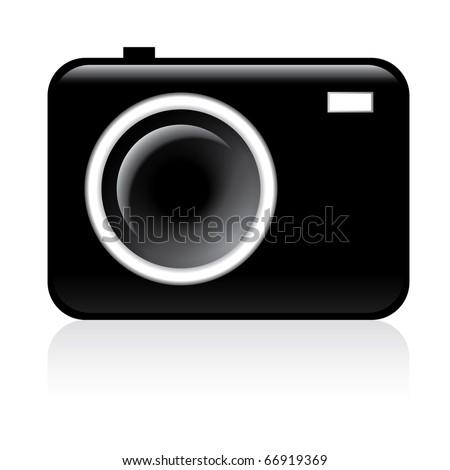 Photo camera icon - Vector illustration on white background - stock vector