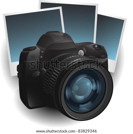 Photo camera illustration - stock vector