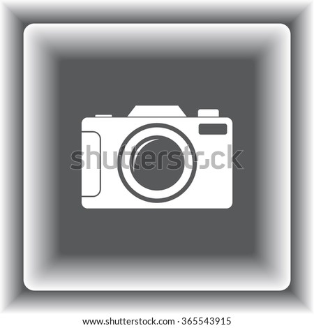 Photo camera sign icon, vector illustration. Flat design style