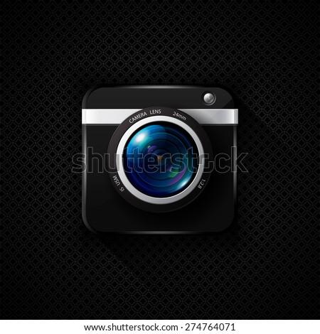 Photo camera vector icon - stock vector