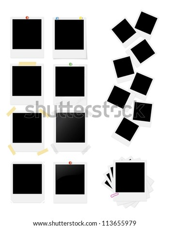 photo cards - stock vector