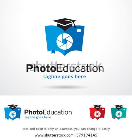 Photo Education Logo Template Design Vector