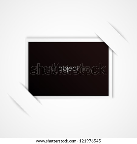photo frame for your object - stock vector