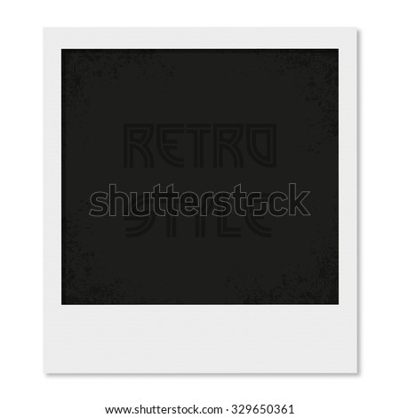 Photo frame in a retro style  with shadow - stock vector