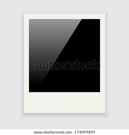 Photo frame isolated on white background - stock vector