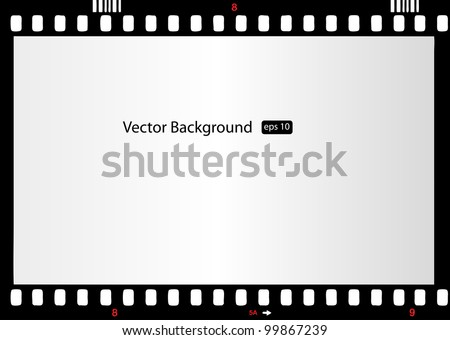 photo frame 35mm - stock vector