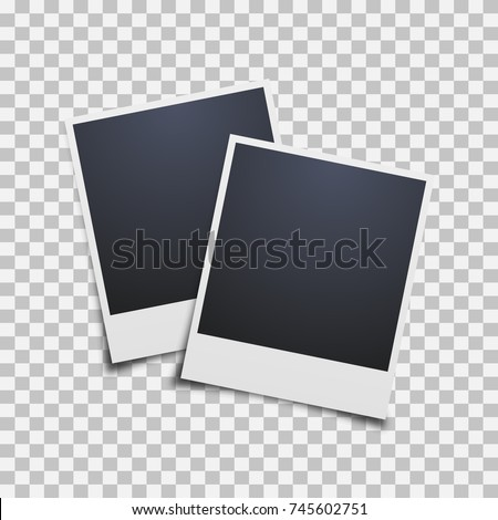 polaroid photo frame on a transparent background. Vector illustration.