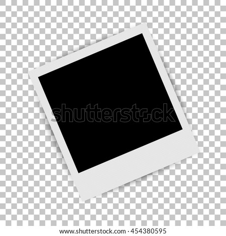 Photo frame on isolated background. Vector illustration - stock vector