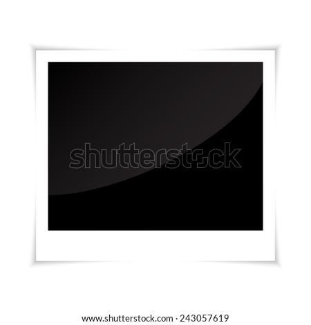 Photo frame. Polaroid - stock vector