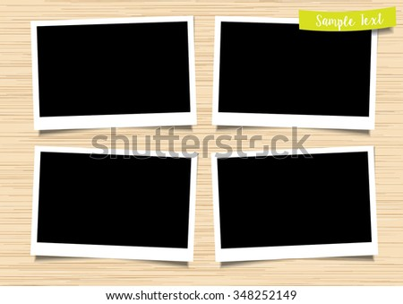 photo frame with wood texture