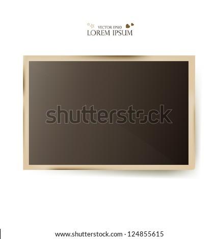 Photo frames- vector illustration. - stock vector