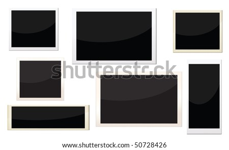 photo frames with different size, can replace image and message on it. - stock vector
