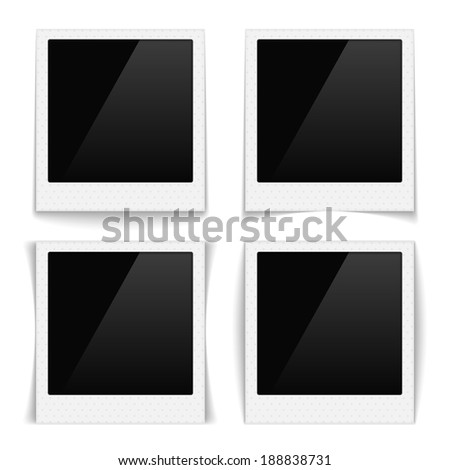 Photo frames with texture of dots, vector eps10 illustration