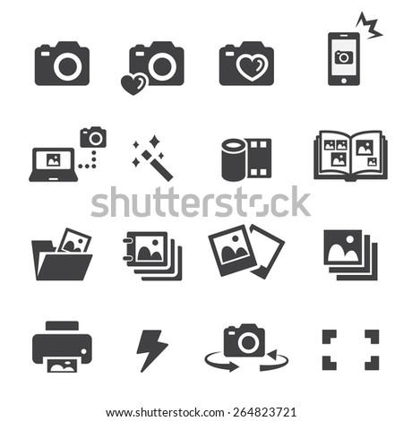 photo icon set - stock vector