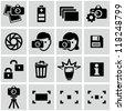 Photo icons - stock photo