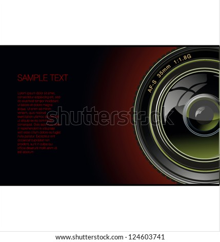 Photo lens background - stock vector