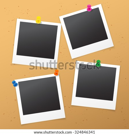 Photo on Cork Board : Vector Illustration - stock vector