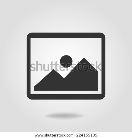 Photo picture web icon in flat style. - stock vector