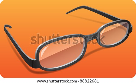 photo-realistic vector glasses with shadows on removable background in eps 10 - stock vector