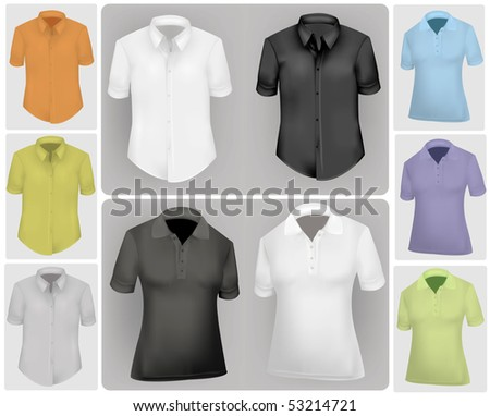 Photo-realistic vector illustration. Polo shirts.