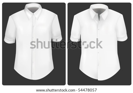 Photo-realistic vector illustration. White t-shirts.