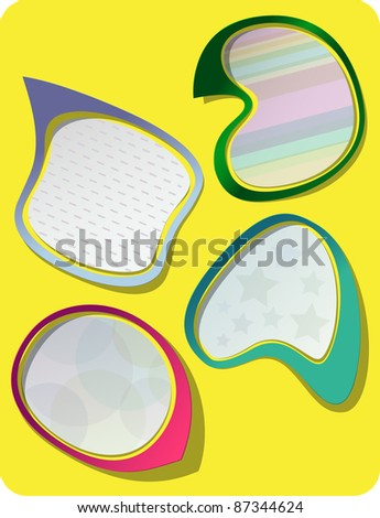 Photo-realistic vector stickers with shadows and frame. Can be resized without quality loss. - stock vector