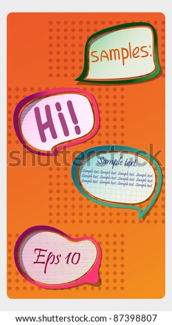 Photo-realistic vector stickers with shadows and frame. Can be scaled without quality loss. - stock vector