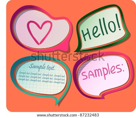 Photo-realistic vector stickers with shadows and frames. Can be scaled without quality loss and placed on any background. Eps 8. - stock vector