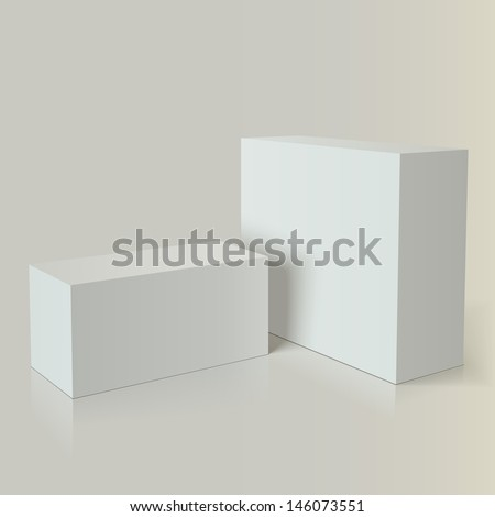 Photo realistic white packaging  for advertising and branding - stock vector