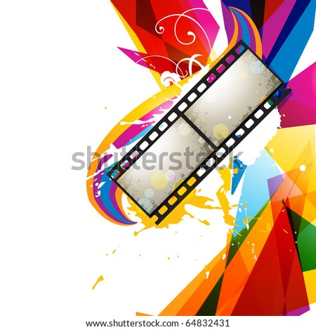 photo reel abstract colorful design - stock vector