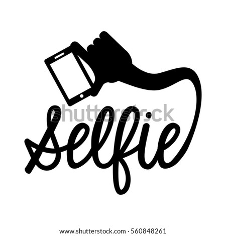 photo selfie with smartphone vector illustration design
