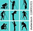 photographer - stock vector